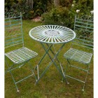 Vintage Green Round Traditional Table and Chairs Set