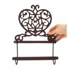 Rustic Heart Scrolled Kitchen Roll Holder