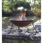 Rustic Kadai Bowl in Use Outdoors