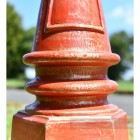 Rustic Red Finish Lamp Post Column Made from cast iron