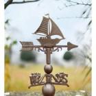 Rustic Sail Boat Weathervane Topper
