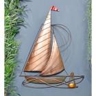 Rustic Sailing Boat Wall Art in Situ in the Home