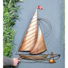 Rustic Sailing Boat Wall Art to Scale