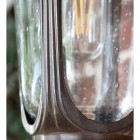 Close-up of the Seeded Glass in the Wall Lantern