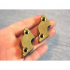 Polished Brass Side Fix Bracket - 12mm
