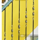 """Alessi"" Single Bold Twist Stainless Steel Stair Spindle"