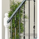 Black Iron Stair Spindle Sets Installed In Modern Staircase