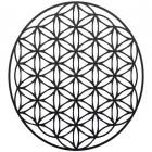 """Geometry """"Flower of Life"""" Steel Wall Art in a Black Finish"""