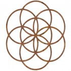 """""""Seed of Life"""" Steel Wall Art in a Rustic Finish"""