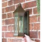 """Sandy Bay"" Brass Wall Lantern to Scale"