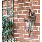 """Sandyway"" Top Fix Bronze Wall Lantern on the Front of a House"