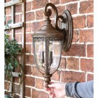 """Sandyway"" Top Fix Bronze Wall Lantern to Sale"