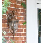 """Sandyway"" Top Fix Bronze Wall Lantern in Situ Next to a Front Door"