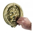 'Sandringham' Polished Brass Lion Knocker