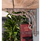 Side View of the Scroll Design Cast Iron Shelf Bracket