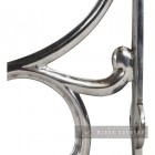 Ornate Design o the Scrolled Bright Chrome Shelf Bracket