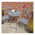 "Simplistic ""shabby chic"" two chair table set"