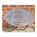 Round grey table