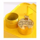 """Close-up of the Lid in the Production """"Shell"""" Petrol Can"""