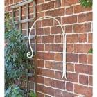 'Shepherds Crook' Hanging Basket Wall Bracket in the Garden