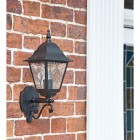"""""""Sheringham"""" Traditional =Bottom Fix Wall Lantern in Situ by the Front Door"""