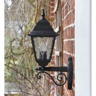 """Side View of the """"Sheringham"""" Traditional Black Bottom Fix Wall Lantern"""