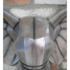 Close-up of the Silver Finish on the Elephant Head Wall Art