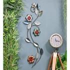 Flower Wall Art in Metallic Finish