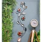 Silver Metallic Flower Wall Art to Scale