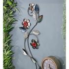 Silver Metallic Flower Wall Art in Situ in the Home