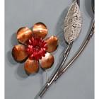 Orange and Red Metallic Flower