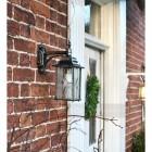 Silver Top Fix Hanging Wall Lantern in Situ