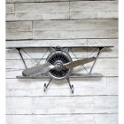 Vintage Style Aeroplane in a Silver Finish
