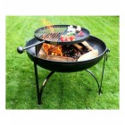 Simple Kadai Fire Bowl with Swing Arm Barbecue Rack Cooking Food