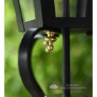 Six Sided Victorian Black Wall Light Close Up