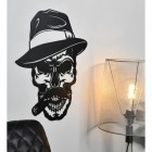 Side angle view of Gangster Skull Wall Art