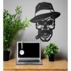 Wall Art of Gangster Skull in situ