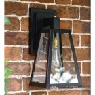 Sleek Black Outdoor Wall Lantern