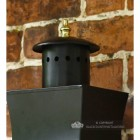 Slim Line Black Contemporary Porch Wall Lantern Top Finial