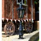 Small Black Hexagon Tall Pillar Light