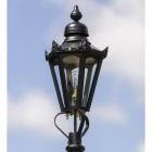Small Black Hexagonal Lamp Post Top