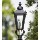 Small Black Victorian Lamp Post Top