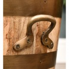 Close-up of the Bronze Handles on the Side of the Log Holder