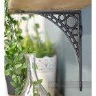 Small Cast Iron Shelf Bracket In A Naural Finish