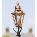 Small Copper Hexagonal Victorian Lamp Post Top
