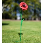 Poppy Garden Ornament with Green Stem Spike