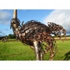 Small Ostrich Walking Sculpture