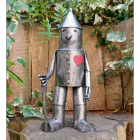 Small Tin Man Garden Sculpture Finished in a Distressed Silver
