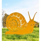 Snail Silhouette in Yellow