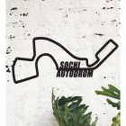 Sochi Autodrom Racing Circuit Wall Art in Situ in the Sitting Room